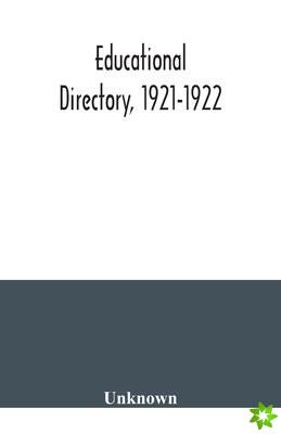 Educational directory, 1921-1922