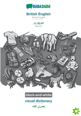 BABADADA black-and-white, British English - Mirpuri (in arabic script), visual dictionary - visual dictionary (in arabic script)