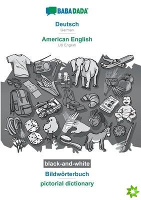 BABADADA black-and-white, Deutsch - American English, Bildwoerterbuch - pictorial dictionary