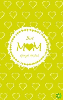 Best Mom Lifestyle Write-in Notebook, Dotted Lines, 288 Pages, Wide Ruled, Size 6 x 9 Inch (A5) Hardcover (Yellow)