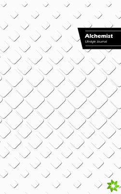Alchemist Lifestyle Journal, Write-in Notebook, Dotted Lines, Wide Ruled, Size 6 x 9 Inch (A5) Hardcover (White III)