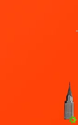 NYC Chrysler building bright orange grid style page notepad $ir Michael limited edition