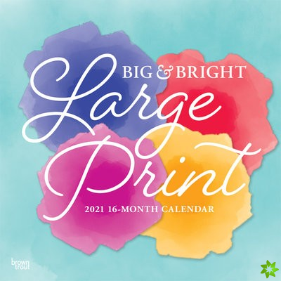BIG BRIGHT LARGE PRINT 2021 SQUARE
