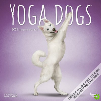 Yoga Dogs 2021 Square Calendar