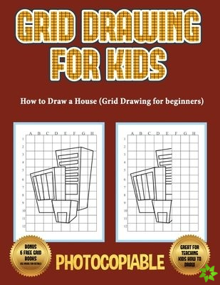 How to Draw a House (Grid Drawing for Beginners)