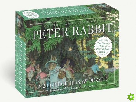 Classic Tale of Peter Rabbit 200-Piece Jigsaw Puzzle & Book