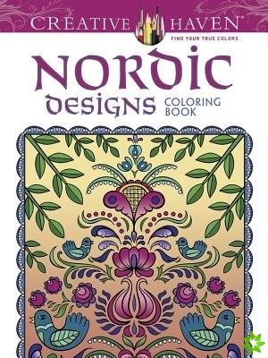 Creative Haven Nordic Designs Collection Coloring Book
