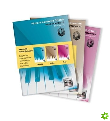 3-Book Music Working Kit for Piano & Keyboard