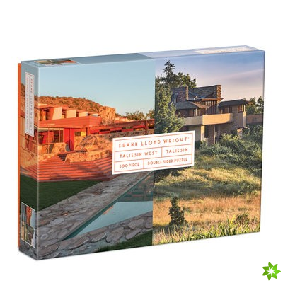 Frank Lloyd Wright Taliesin and Taliesin West 500 Piece Double-Sided Puzzle