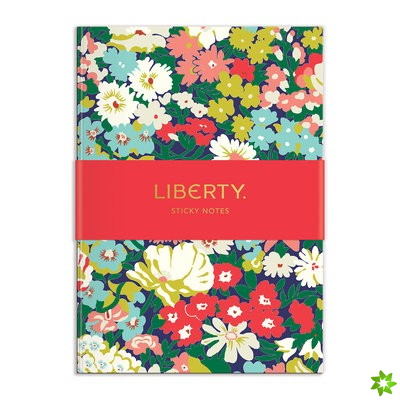 Liberty London Floral Sticky Notes Hard Cover Book