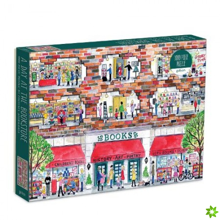 Michael Storrings A Day at the Bookstore 1000 Piece Puzzle