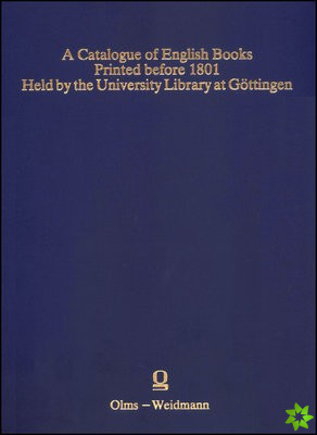 CATALOGUE OF ENGLISH BOOKS PRINTED BEFOR