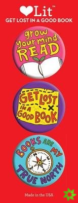 Get Lost in a Good Book 3 Badge Set