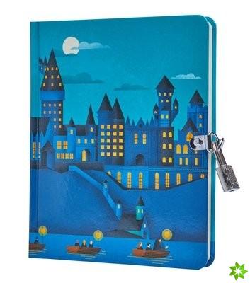 Harry Potter: Hogwarts Castle at Night Lock and Key Diary