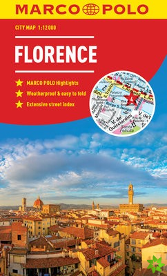 Florence Marco Polo City Map - pocket size, easy fold, Florence street map