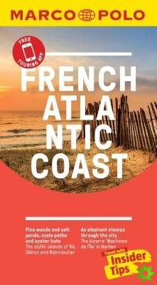 French Atlantic Coast Marco Polo Pocket Travel Guide 2019 - with pull out map