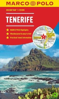 Tenerife Marco Polo Holiday Map 2019 - pocket size, easy fold Tenerife map