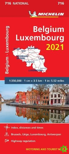 Belgium & Luxembourg 2021 - Michelin National Map 716