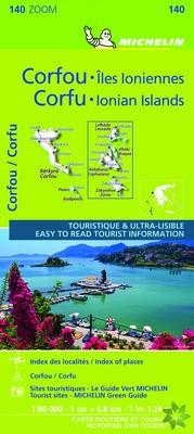 Corfu & the Ionian Islands - Michelin Zoom Map 140