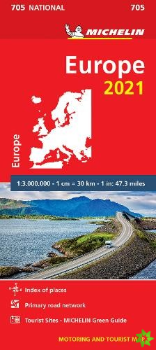 Europe 2021 - Michelin National Map 705