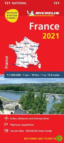France 2021 - Michelin National Map 721