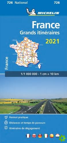 France Route Planning 2021 - Michelin National Map 726