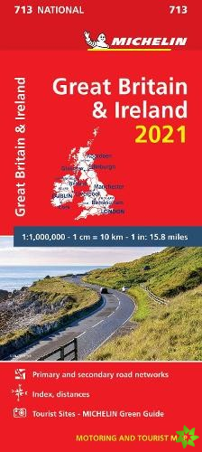 Great Britain & Ireland 2021 - Michelin National Map 713