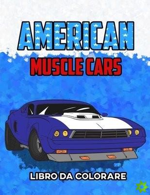 American Muscle Cars Libro da Colorare