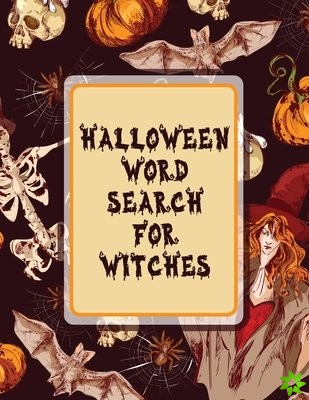 Halloween Word Search For Witches