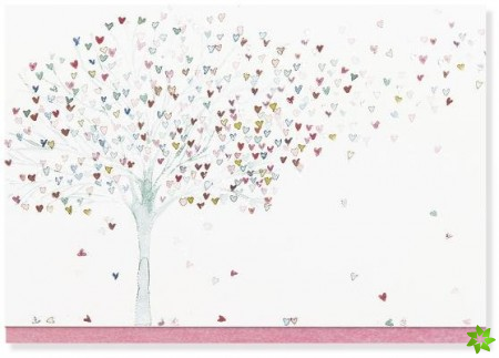 NOTE CARD TREE OF HEARTS
