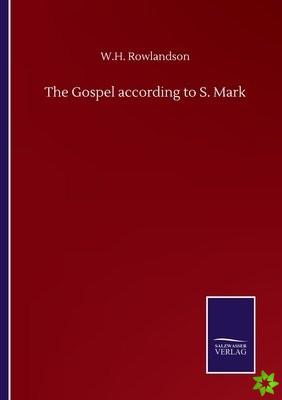 Gospel according to S. Mark