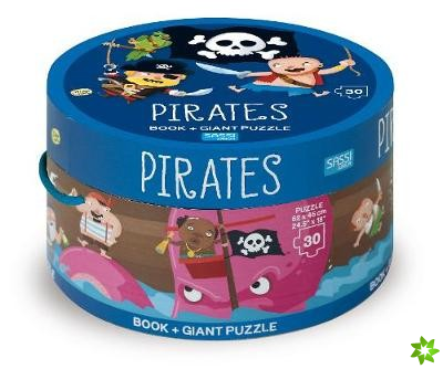PIRATES BOOK AND GIANT PUZZLE