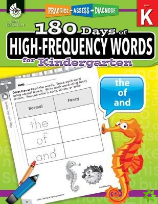 180 Days of High-Frequency Words for Kindergarten