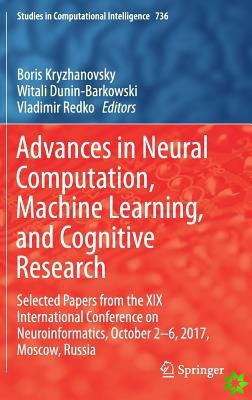 Advances in Neural Computation, Machine Learning, and Cognitive Research