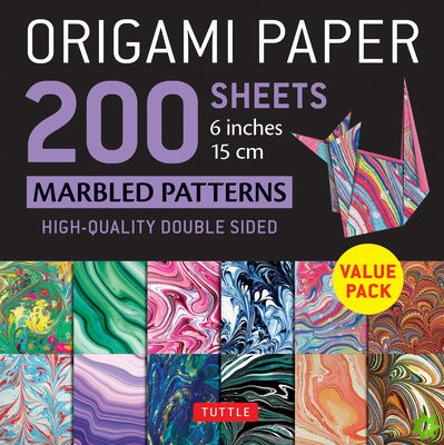 Origami Paper 200 sheets Marbled Patterns 6